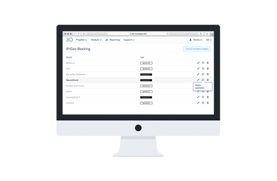Sicherheit und Rechtemanagement mit 3Q. Steuern Sie die Zugriffe auf Ihre Videos mit unseren umfassenden Funktionen.
