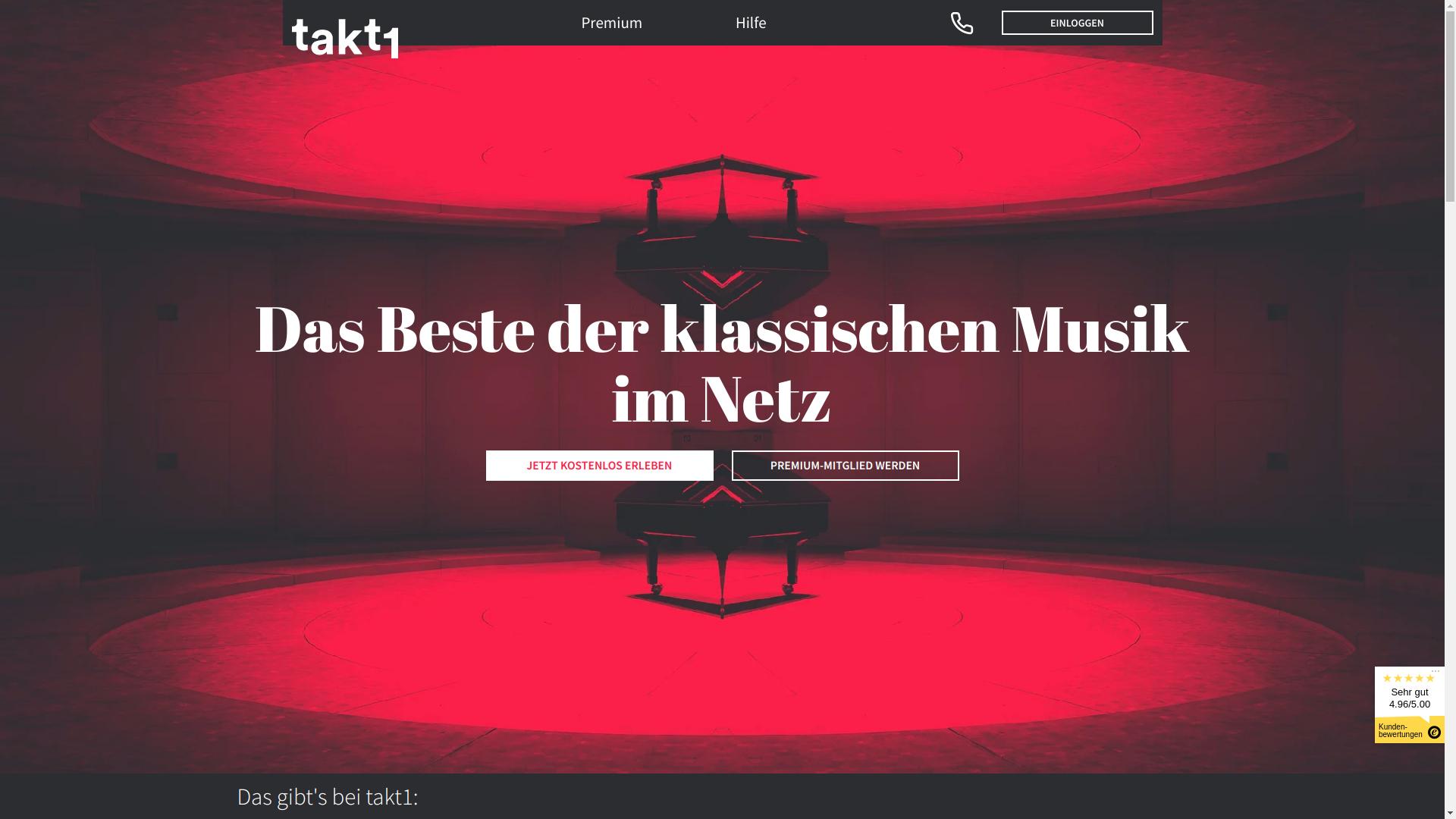takt1 Website Screenshot