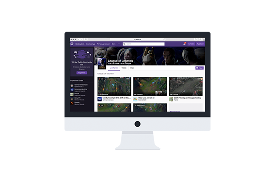 twitch.tv website