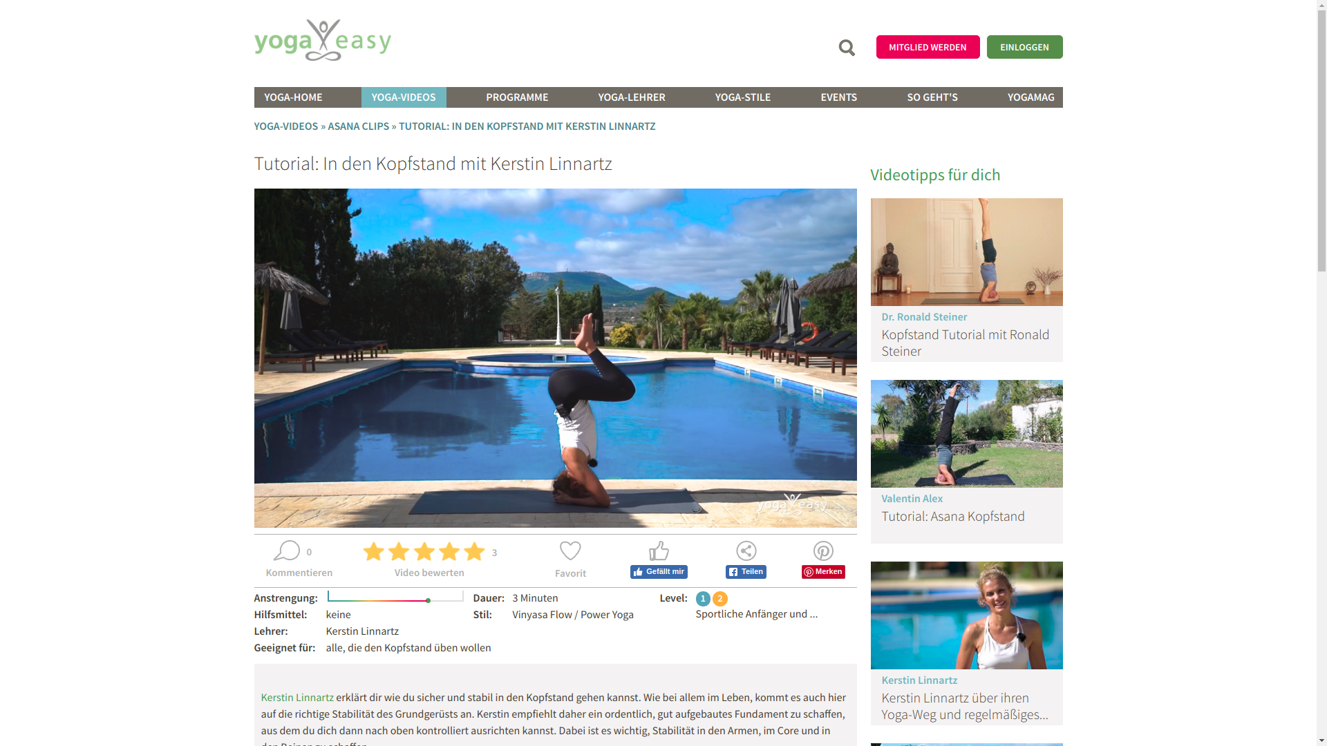 yogaeasy website screenshot